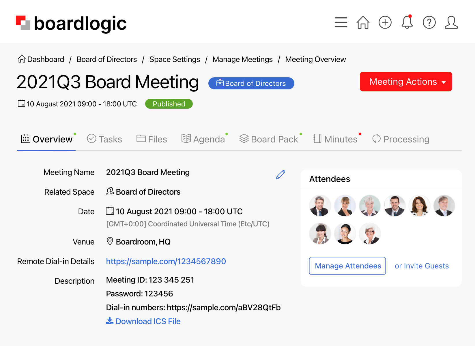 Organise paperless meetings